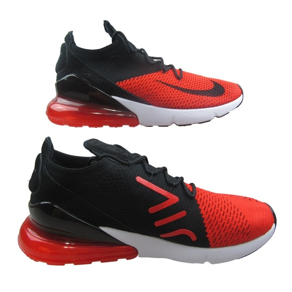 Nike Air Max 270 Flyknit Running Shoes Chile Red